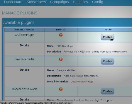 enable_plugin_phpList